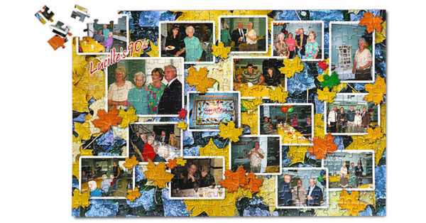 504 Piece Photo Collage Jigsaw Puzzle